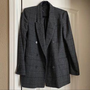 Zara plaid oversized blazer size small